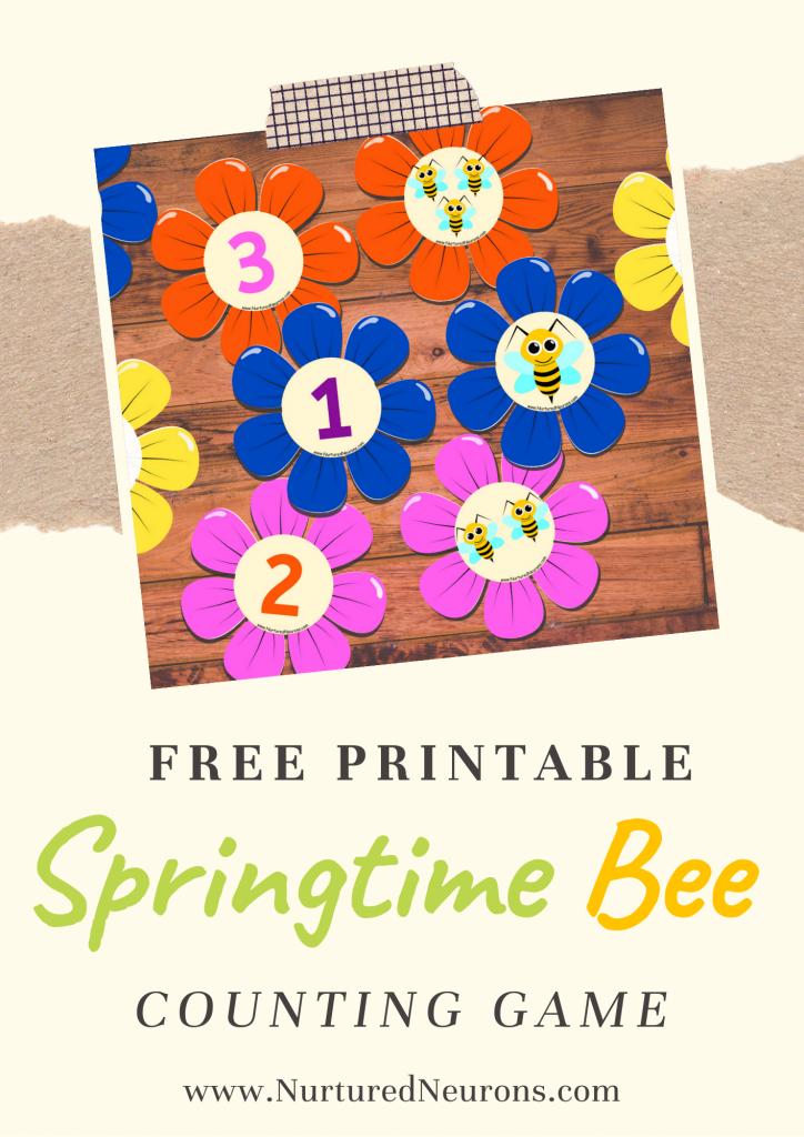 Bee Math Game For Preschoolers and Kindergarten
