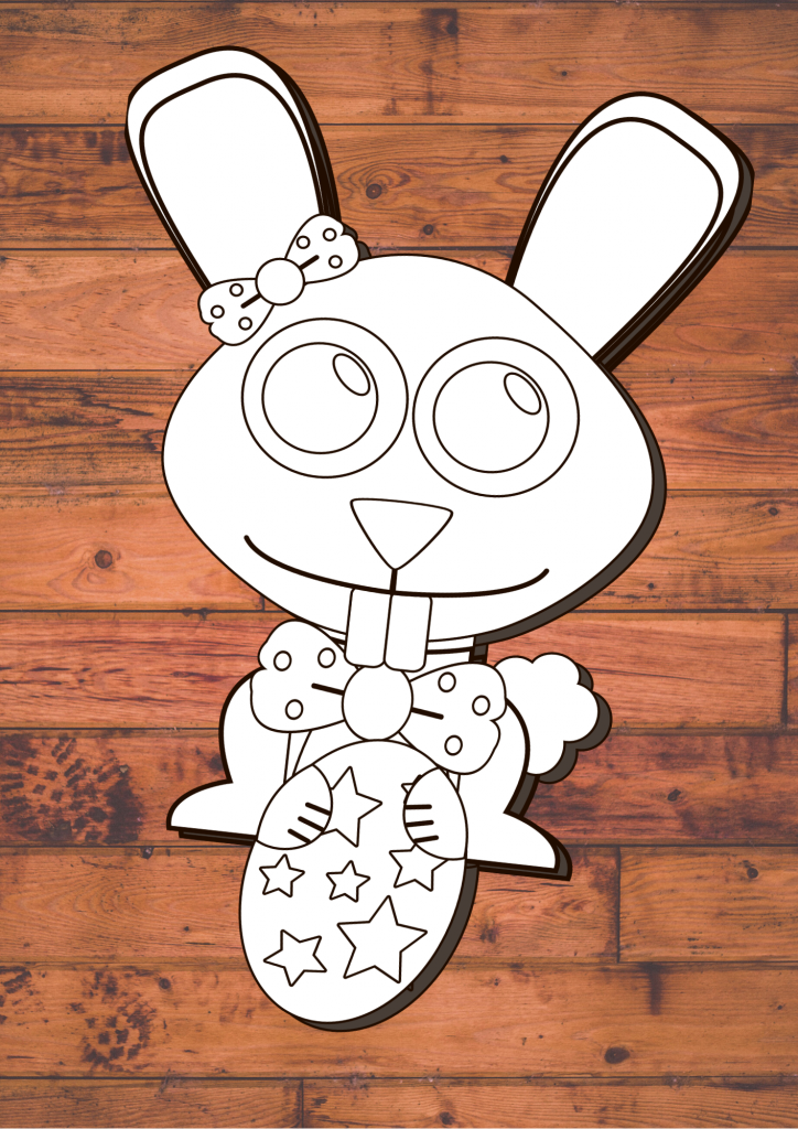 Build An Easter Bunny Coloring Craft
