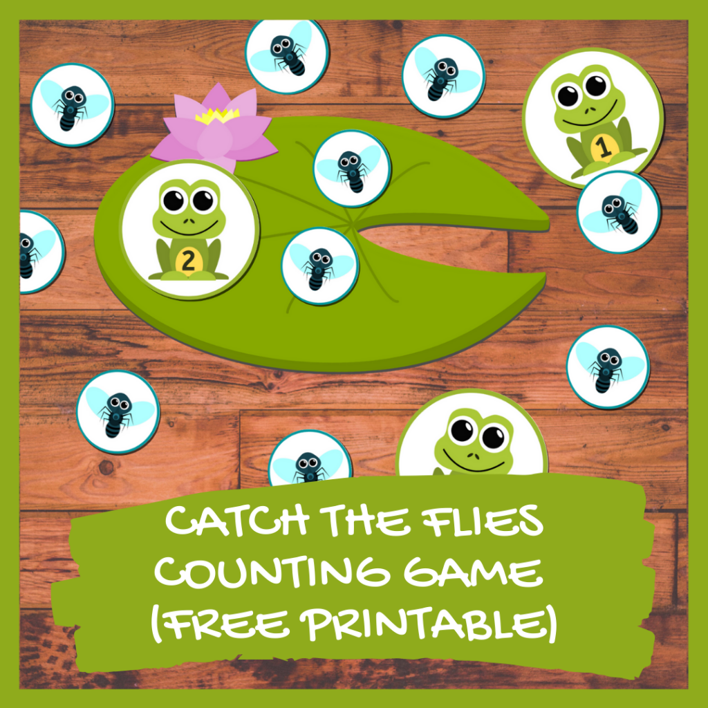 CATCH THE FLIES - FROG MATH GAME FOR KINDERGARTEN (FREE PRINTABLE)