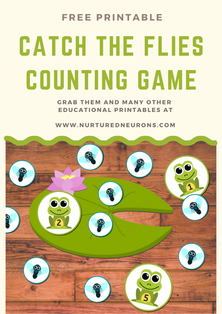 Frog Math Game for Preschoolers and kindergarten