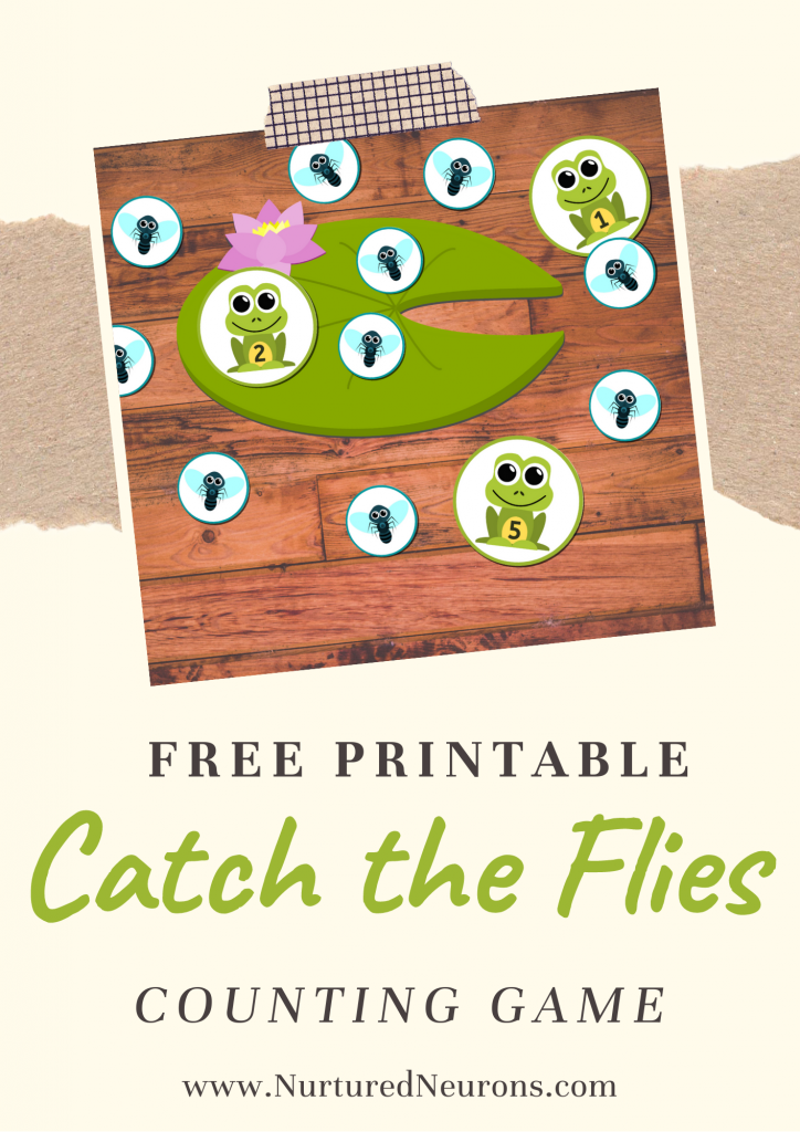 Frog Math Game for Preschoolers and kindergarten - catch the flies