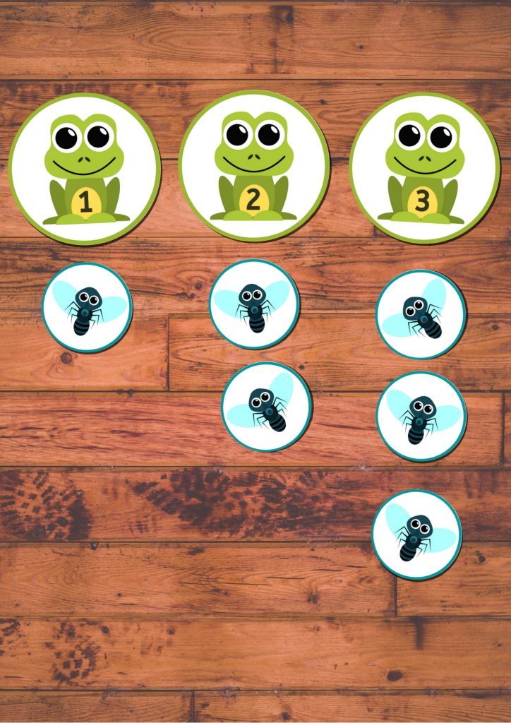Frog Math Game for Preschoolers and kindergarten - number ordering