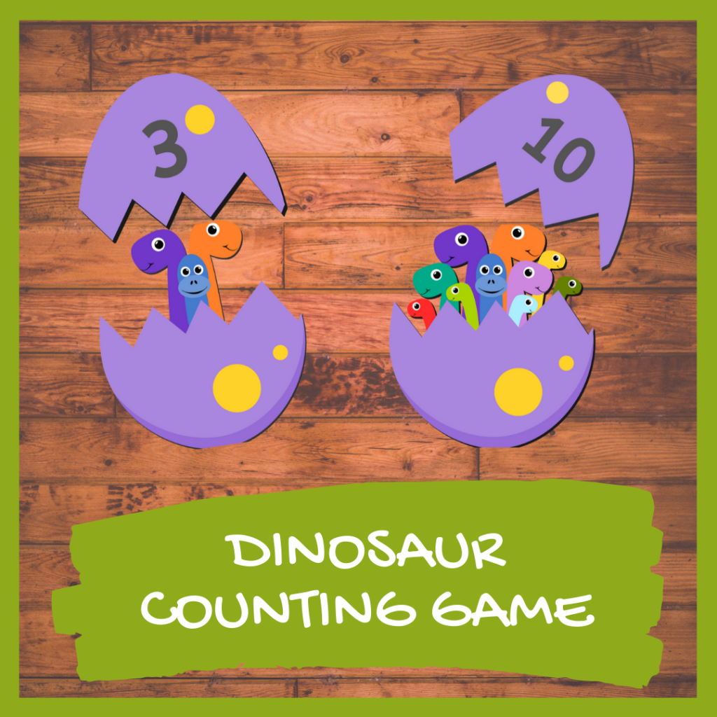FREE DINOSAUR MAth GAME GAME FOR PRESCHOOLERS AND KINDERGARTEN