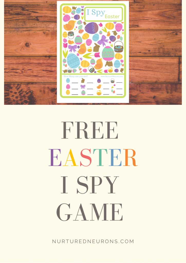 Free Printable Easter I spy and counting game