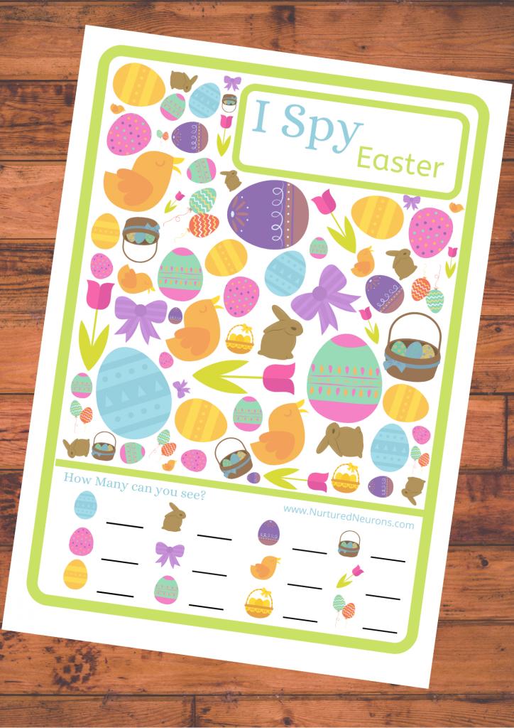 Easter I spygame Free Printable