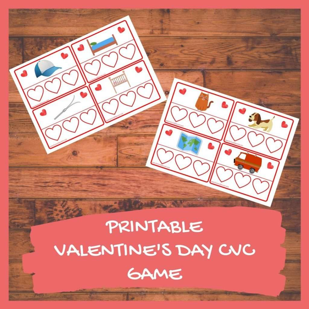 PRINTABLE VALENTINE'S DAY CVC GAME