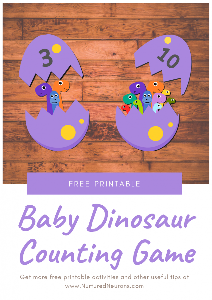 Preschool Dinosaur Math Game (Free Printable)