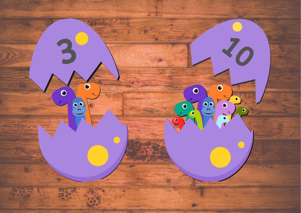 Preschool Dinosaur Counting activity printable free