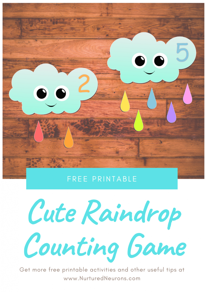 Preschool weather counting game (free printable)