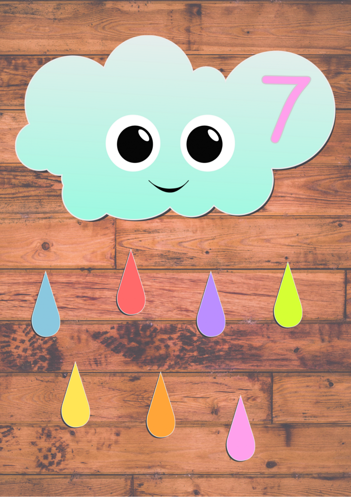 Weather theme preschool counting game (free printable)