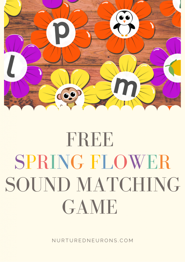 Spring Flower Beginning Sounds Game