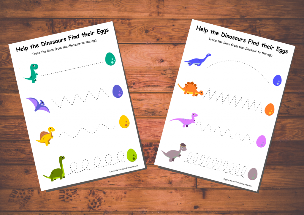 Trace the line prewriting worksheets