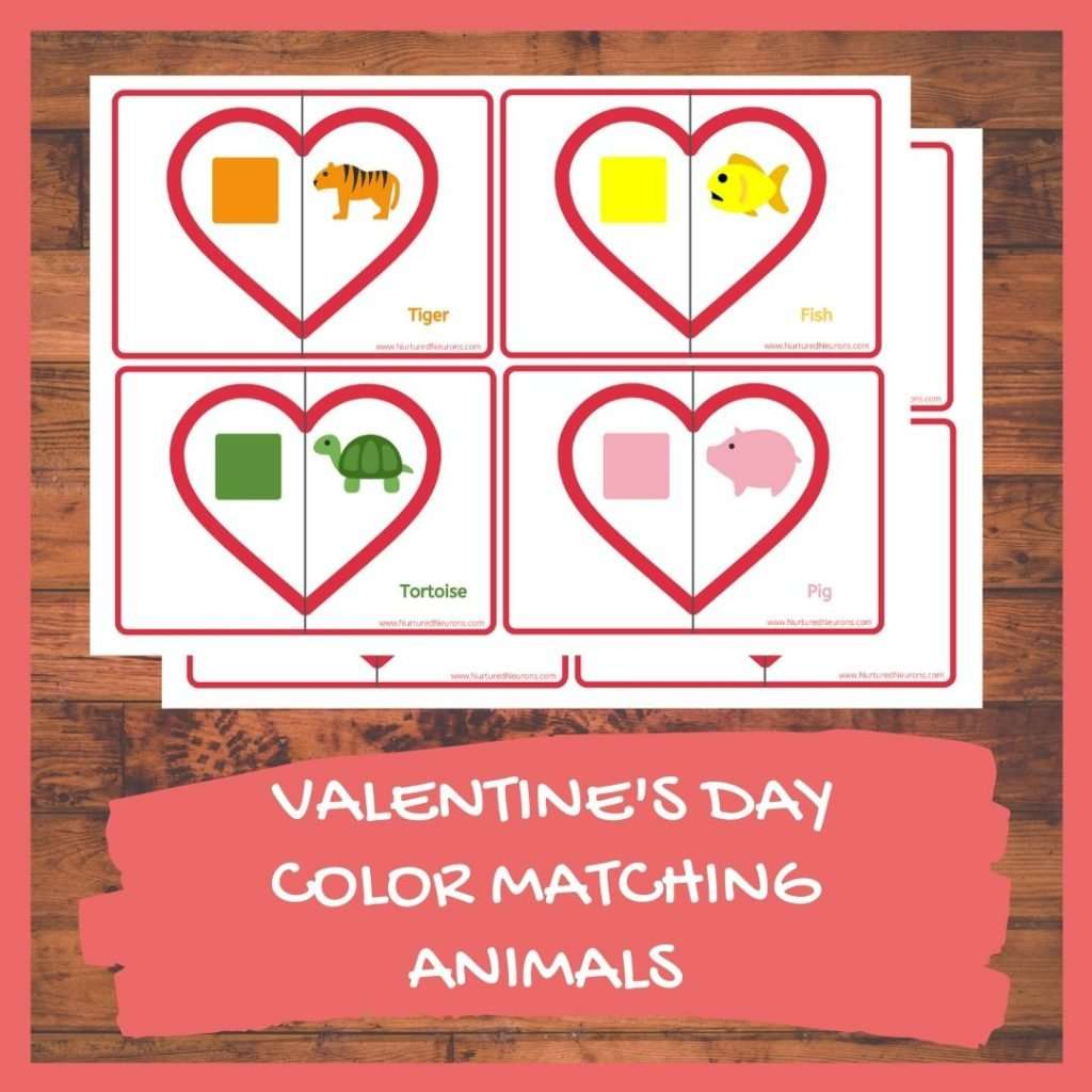 VALENTINE'S DAY COLOR MATCHING Game