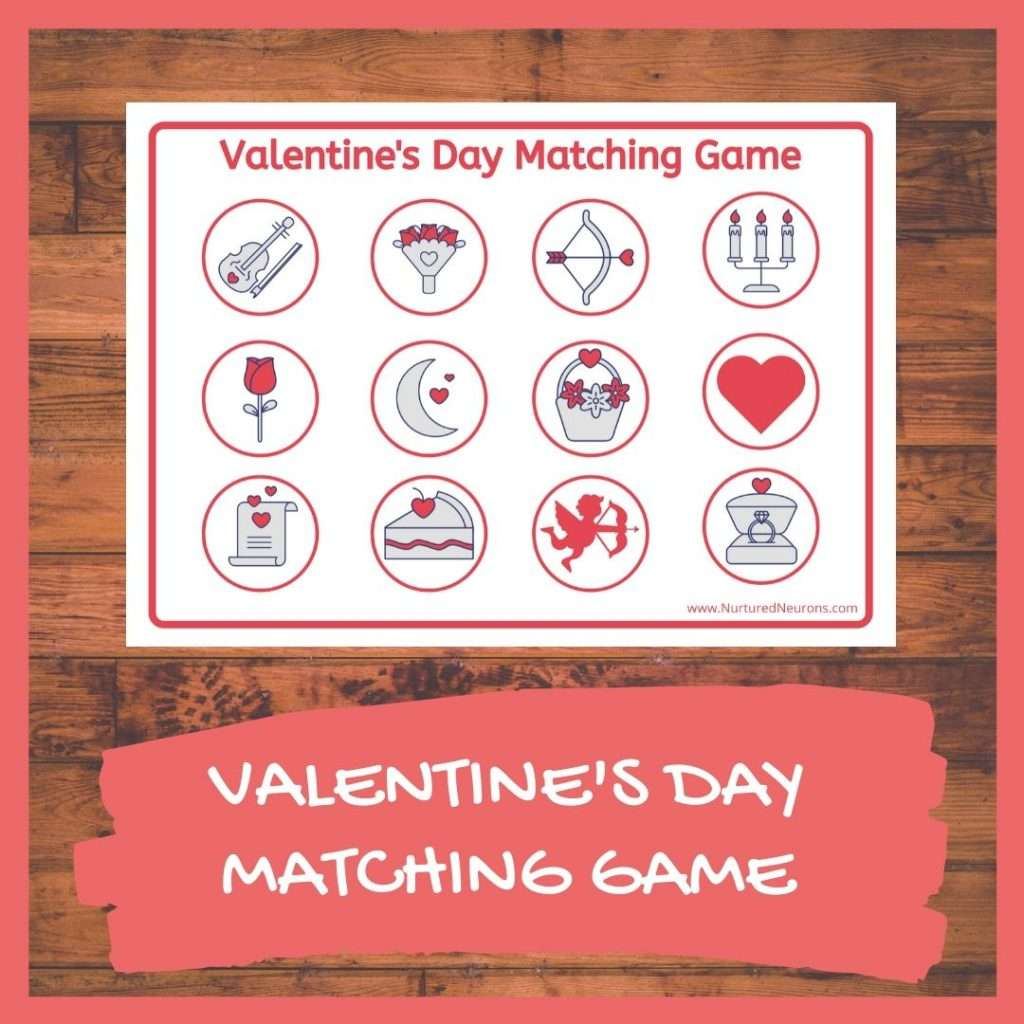 VALENTINE'S DAY MATCHING GAME