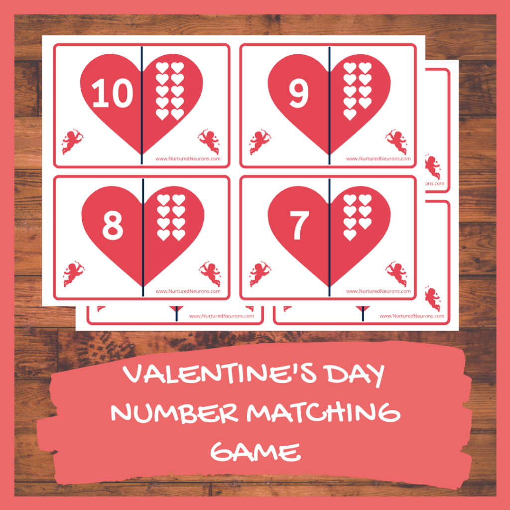 PRINTABLE VALENTINE'S DAY NUMBER MATCHING GAME