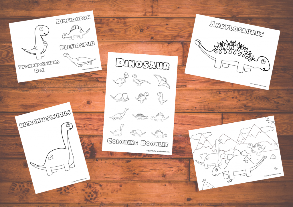 printable cute dinosaur coloring pages