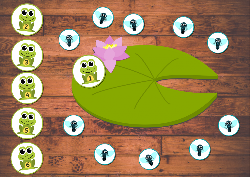 frog math game - counting and number sense