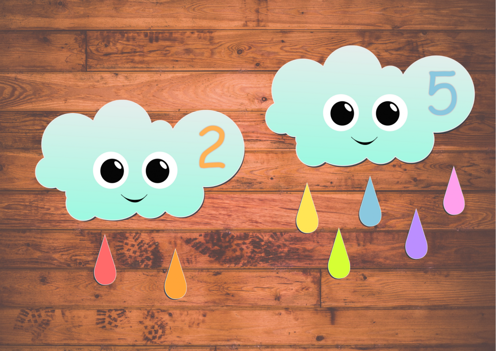weather preschool printables - math game