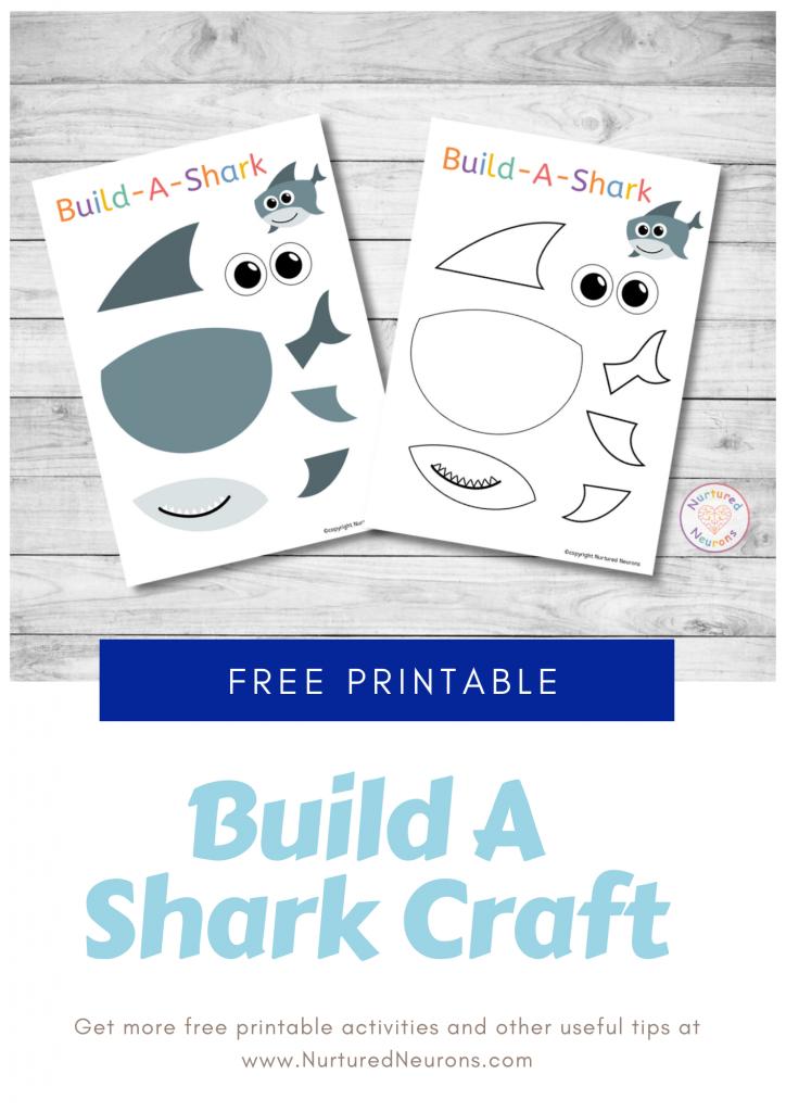 Build A Shark Craft free preschool printable