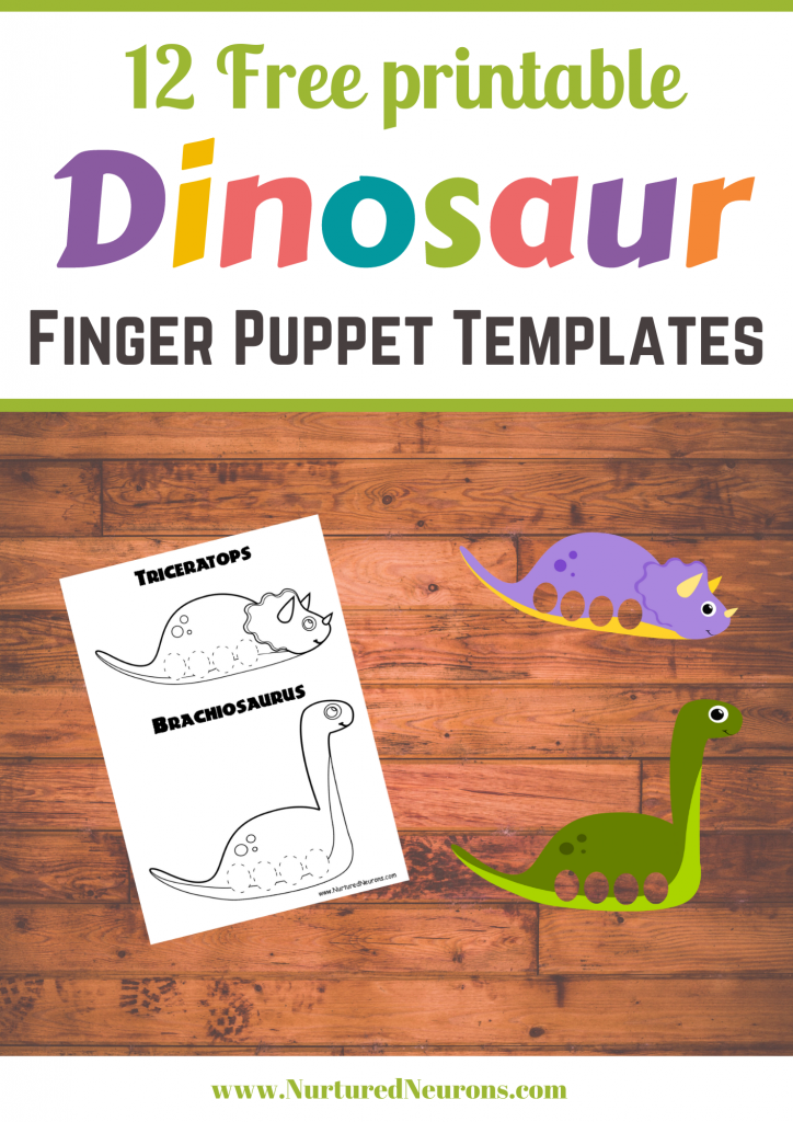 Dinosaur Finger Puppet templates (free printable craft)