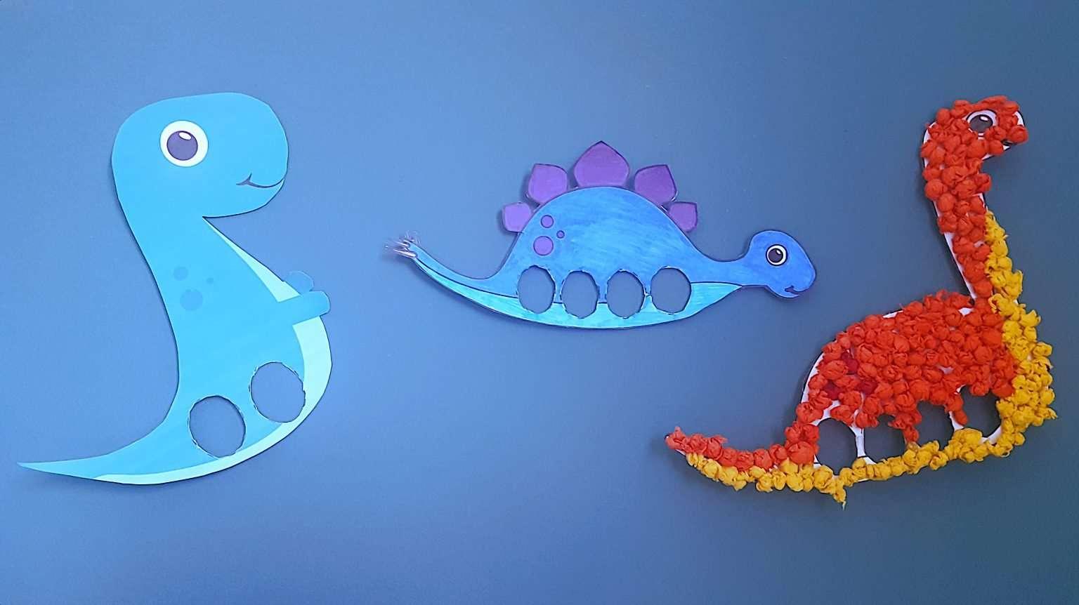 Marionnettes Dinosaures en Papier