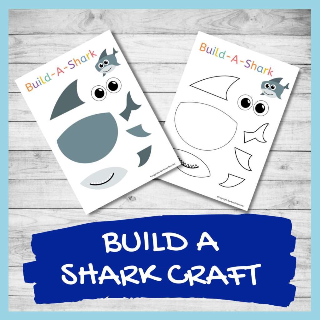 PRINTABLE make A SHARK CRAFT