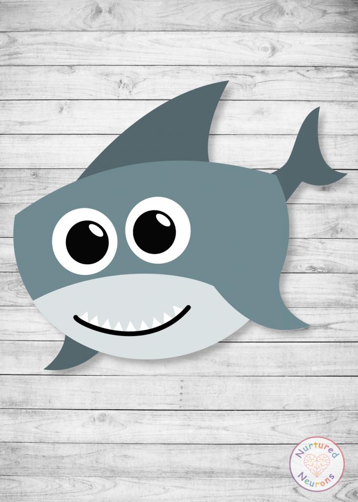 Baby Shark Printable Template