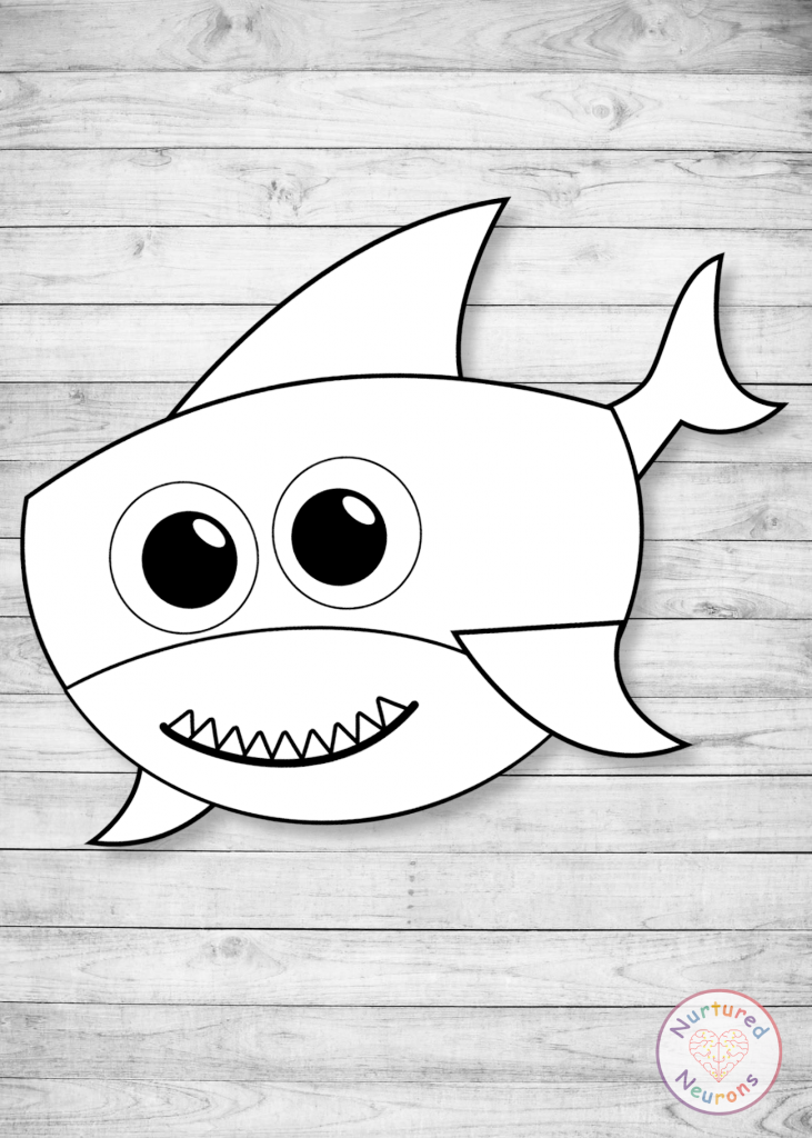build a shark craft Shark Printable Template