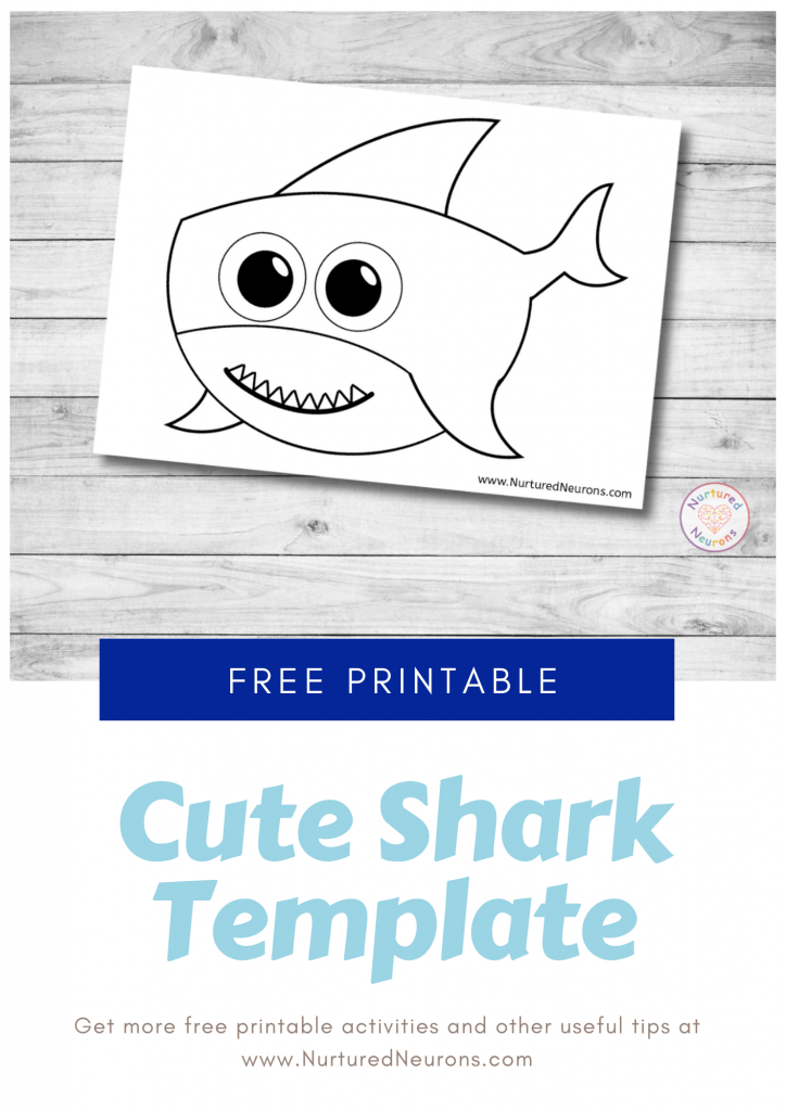 Baby Shark Template for free preschool printable crafts