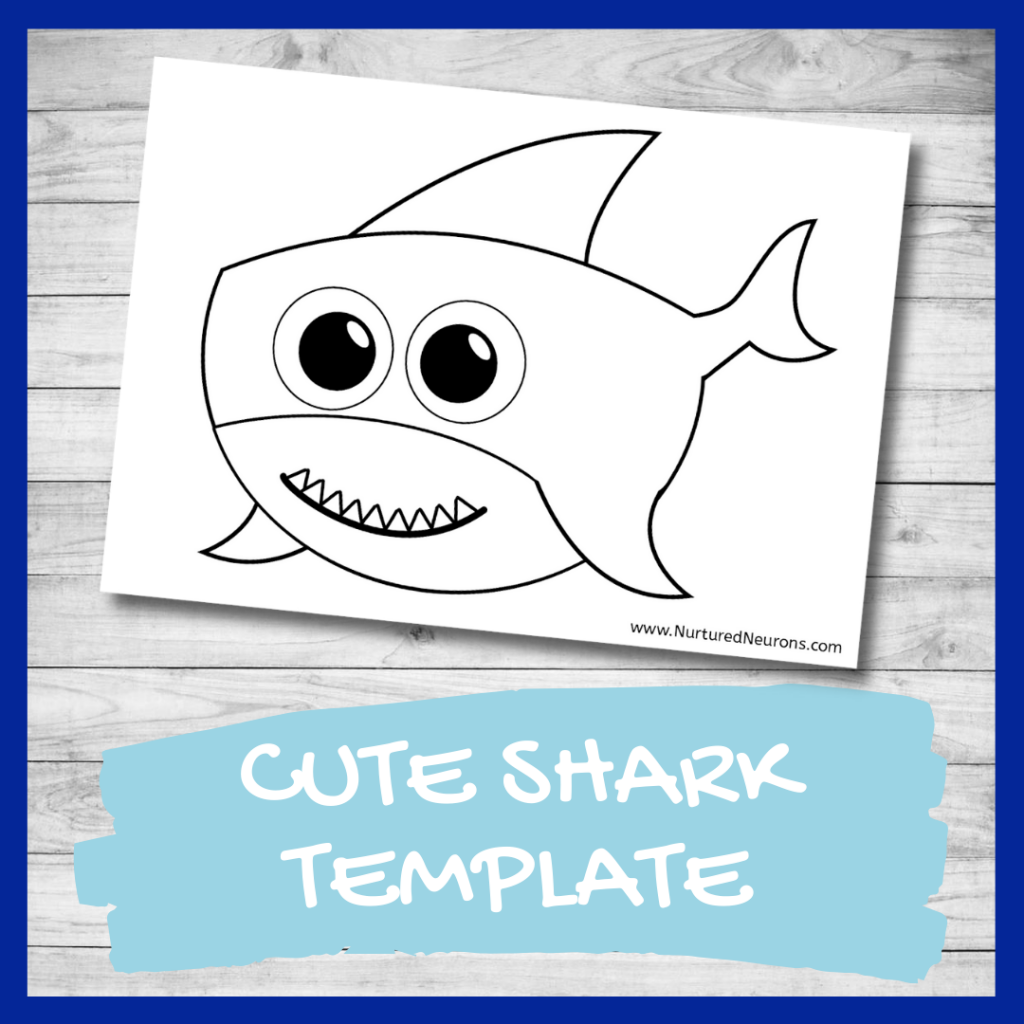 FREE PRINTABLE shark template