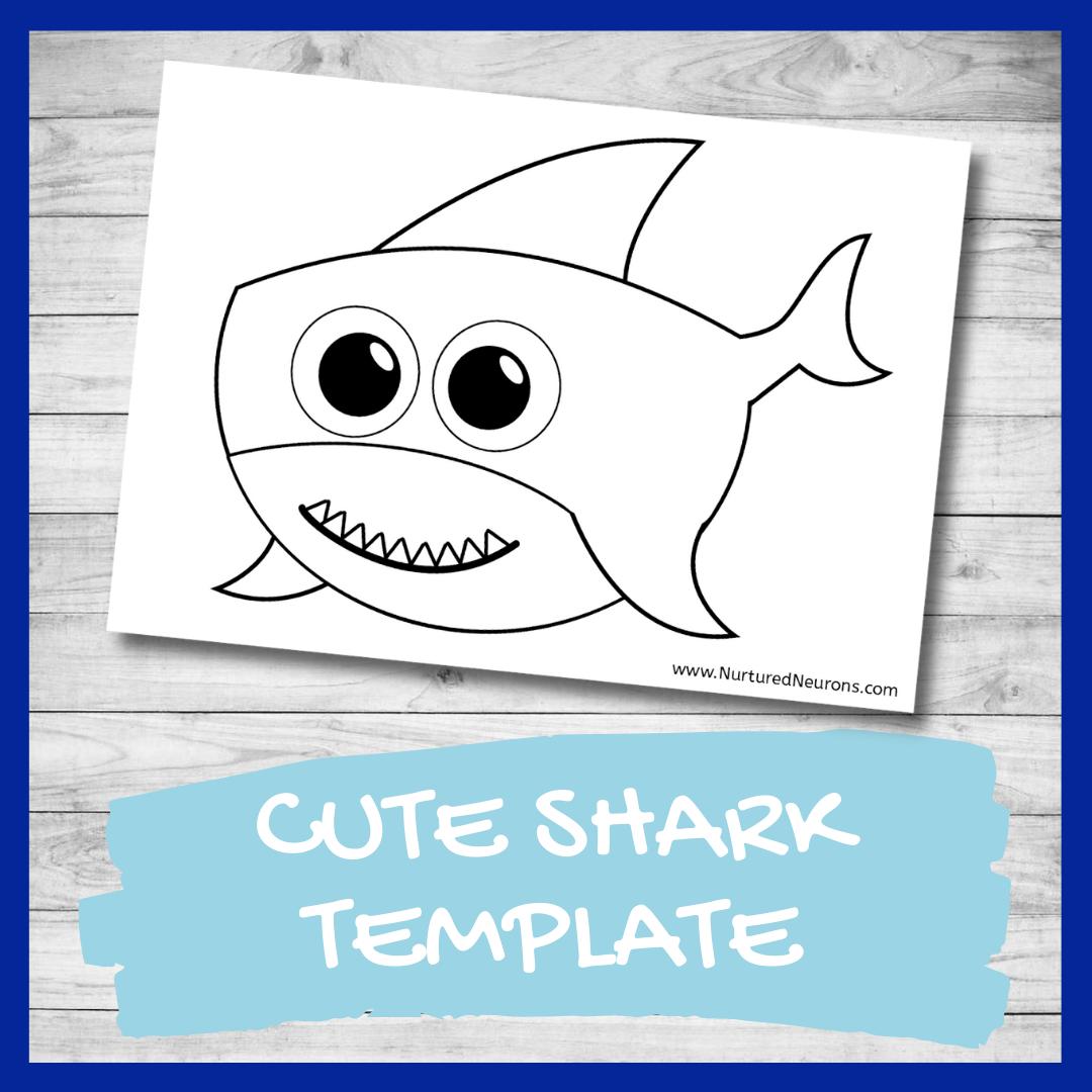 FREE PRINTABLE shark template