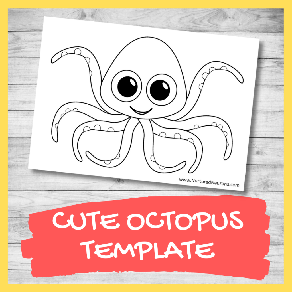 FREE PRINTABLE octopus template for crafts