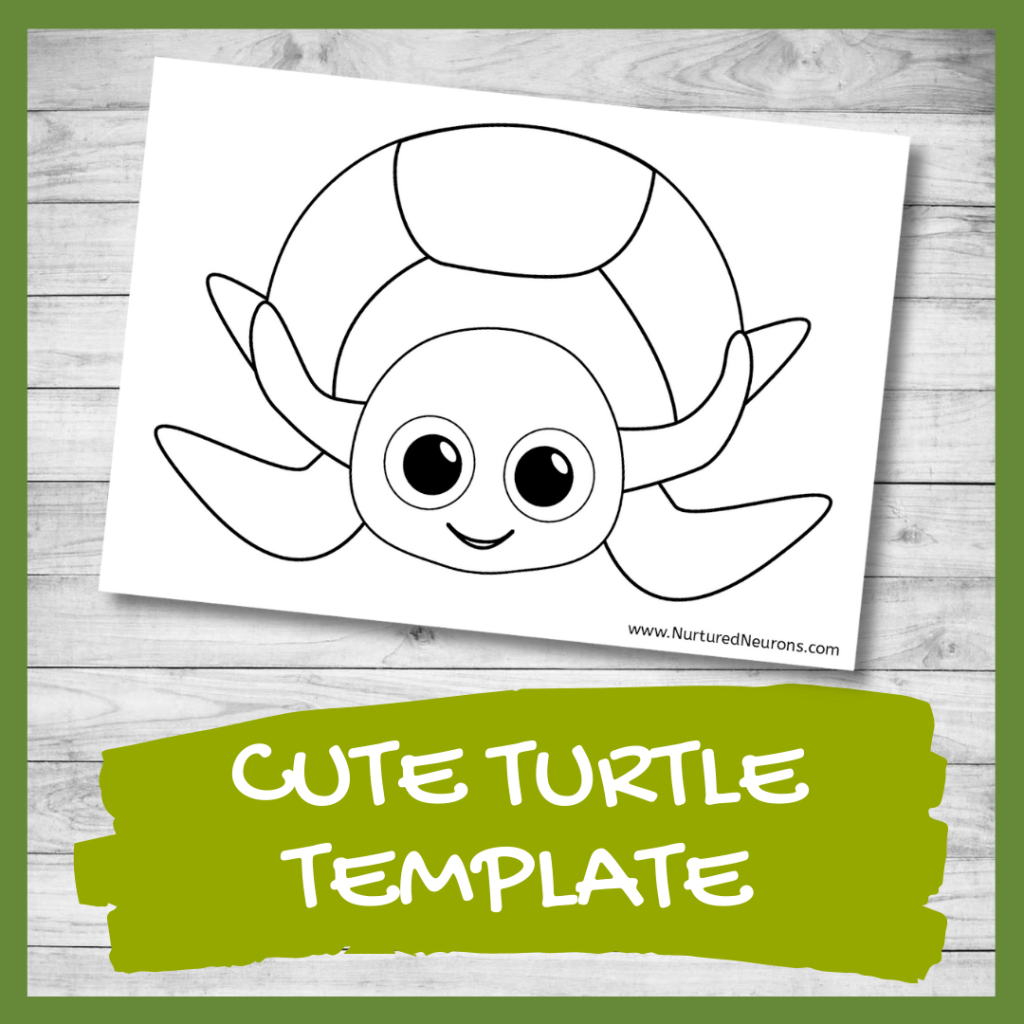 FREE PRINTABLE turtle template for crafts