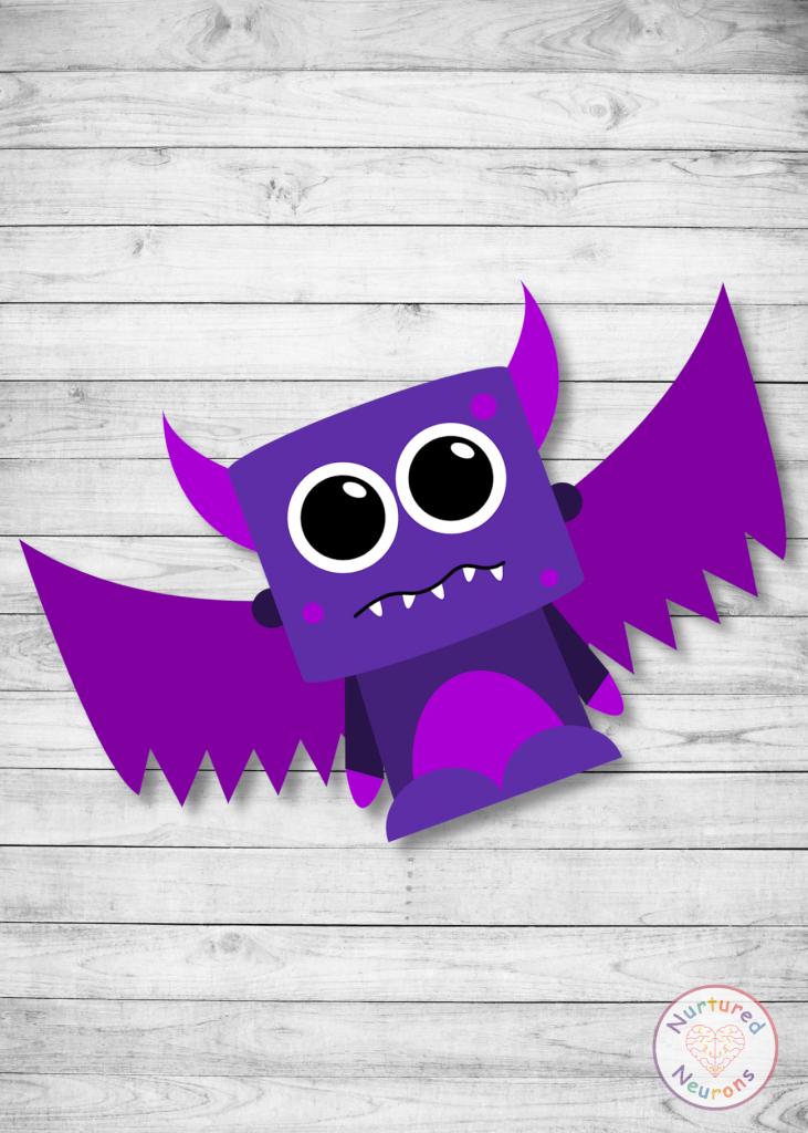 Cute Monster Halloween Craft for preschool