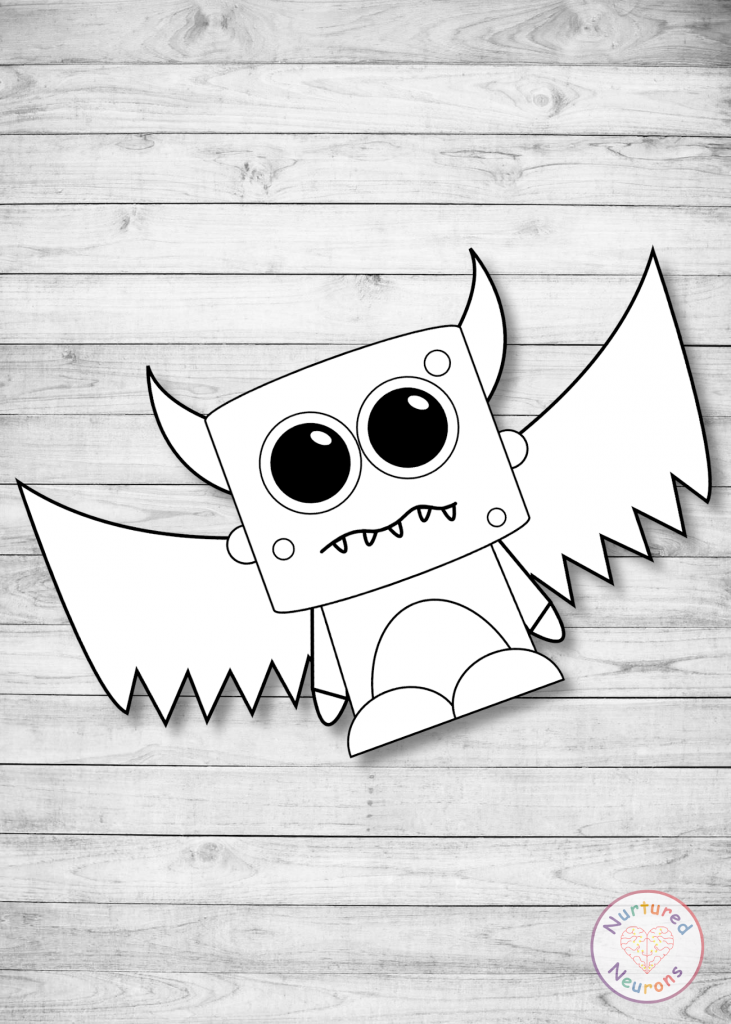 Cute monster template