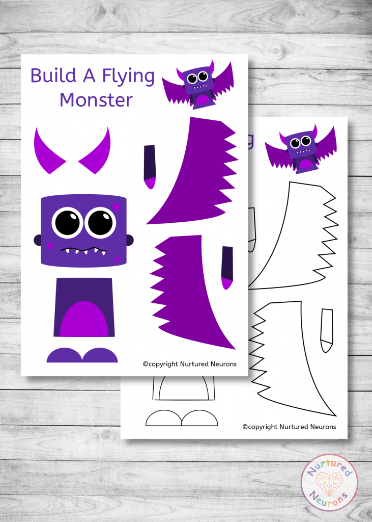 BUILD A MONSTER CRAFT (great for toddlers and preschoolers