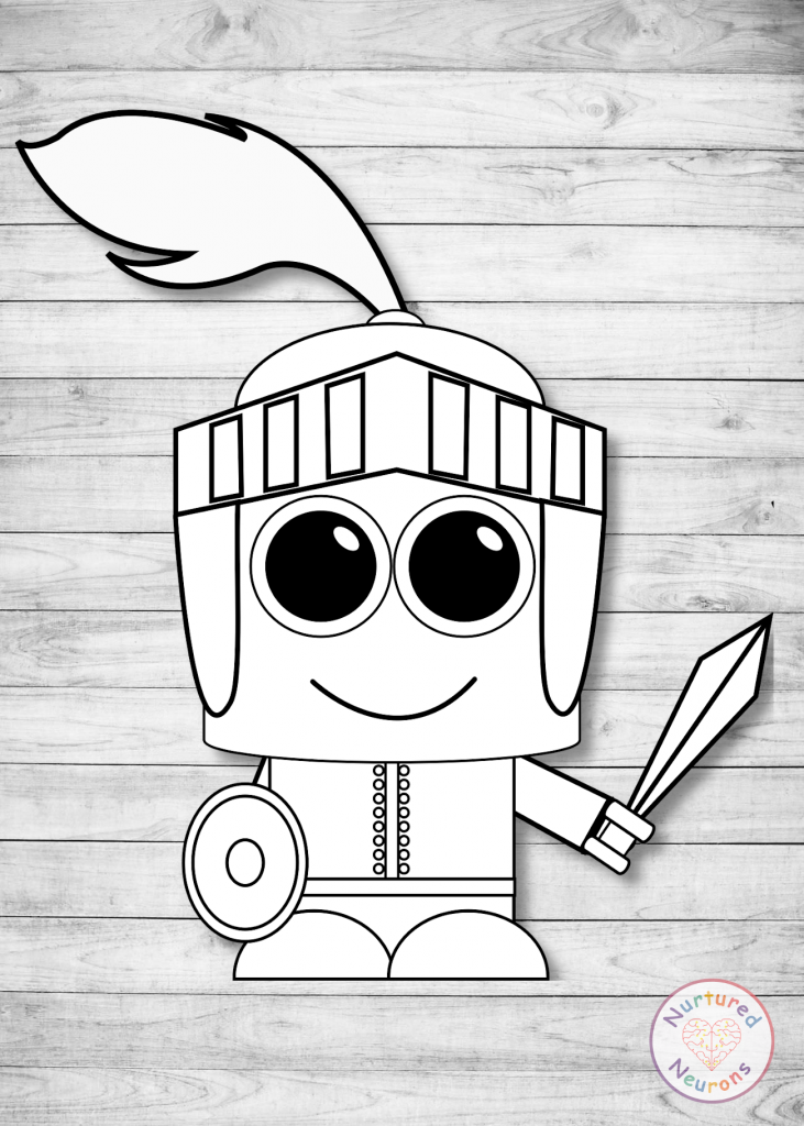 plain knight craft - free printable templates