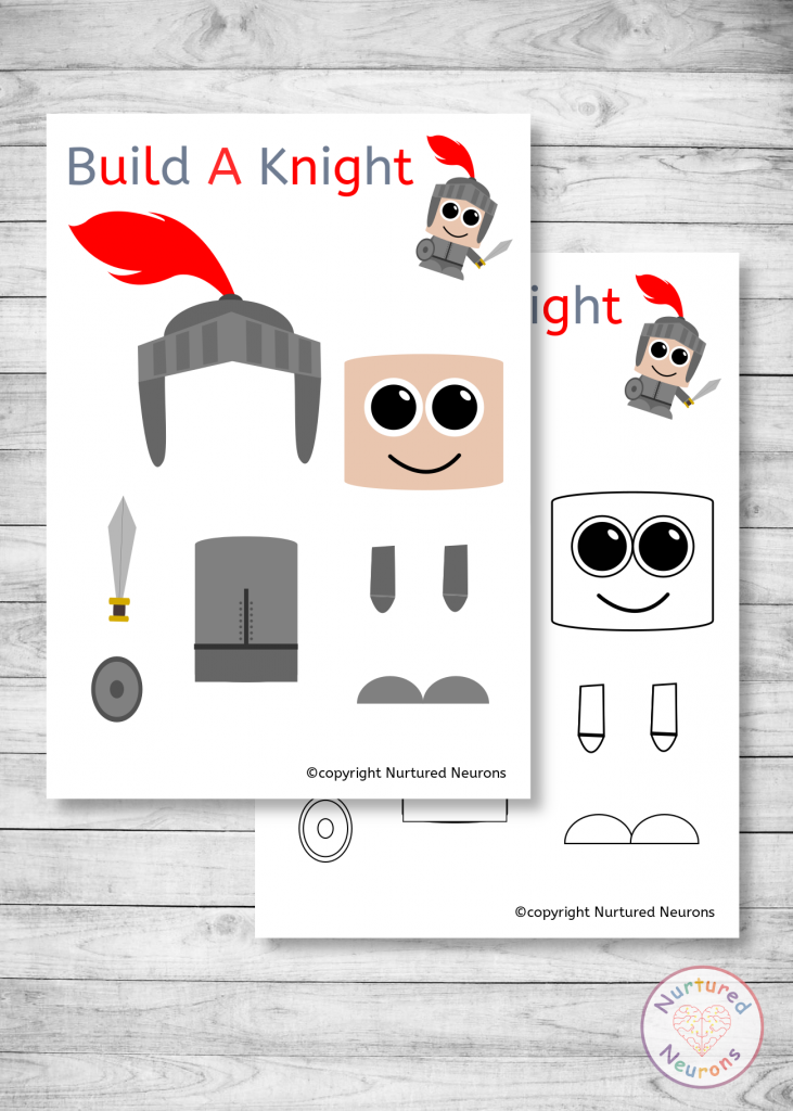 build a knight craft - free printable templates