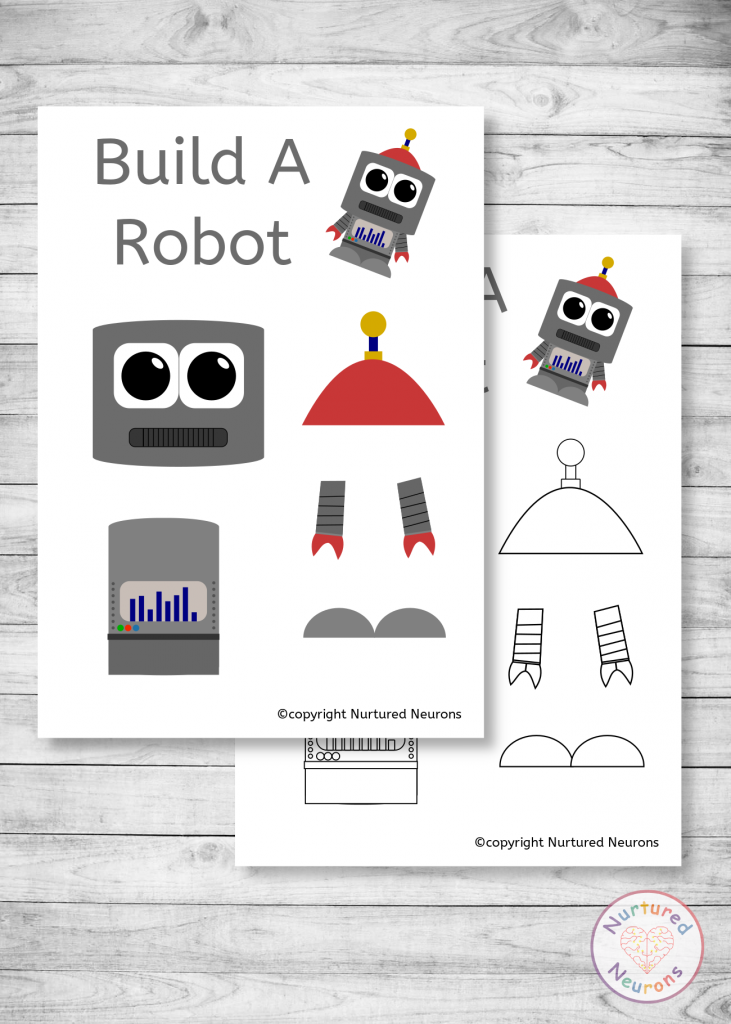 free cute robot templates for preschool crafts