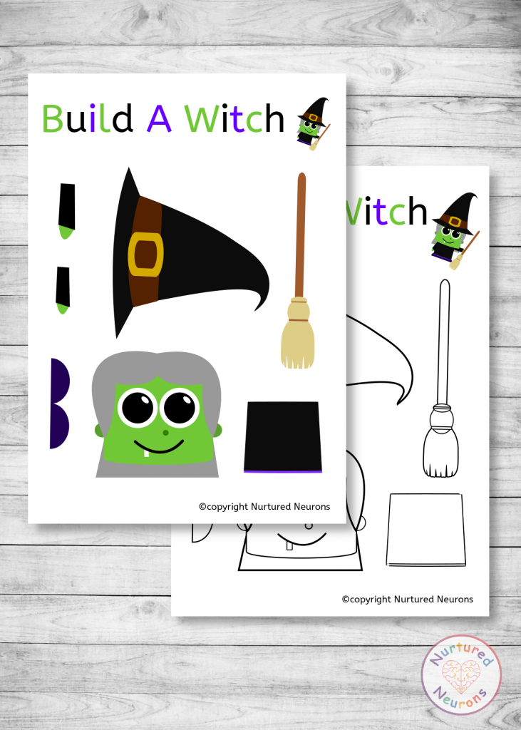 build a witch craft - free printable templates