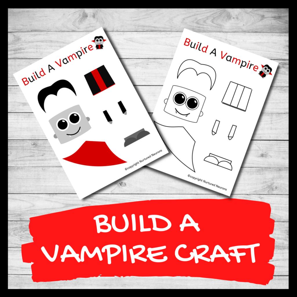 BUILD A VAMPIRE CRAFT PRINTABLE Halloween template