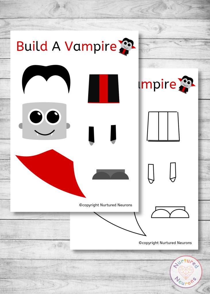 build a vampire craft - free printable templates