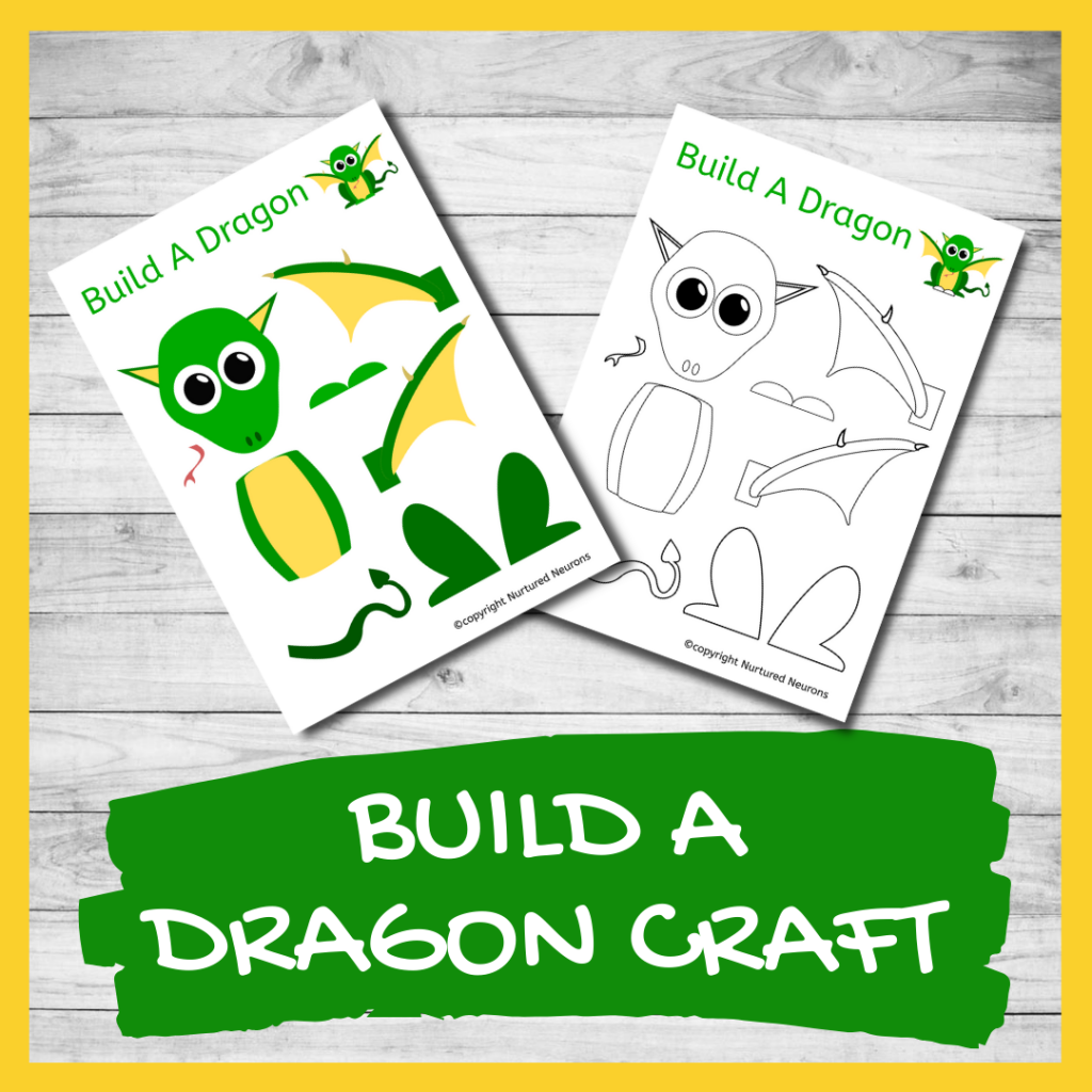 FREE PRINTABLE make A CUTE DRAGON CRAFT