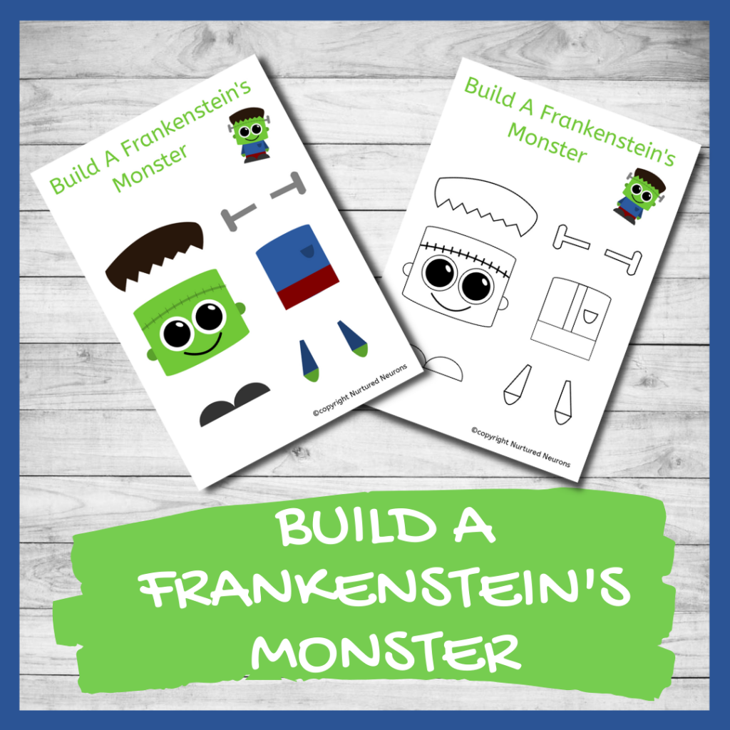 FREE PRINTABLE BUILD A FRANKENSTEIN'S MONSTER CRAFT
