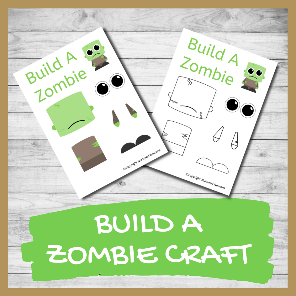 FREE PRINTABLE BUILD A ZOMBIE CRAFT CRAFT