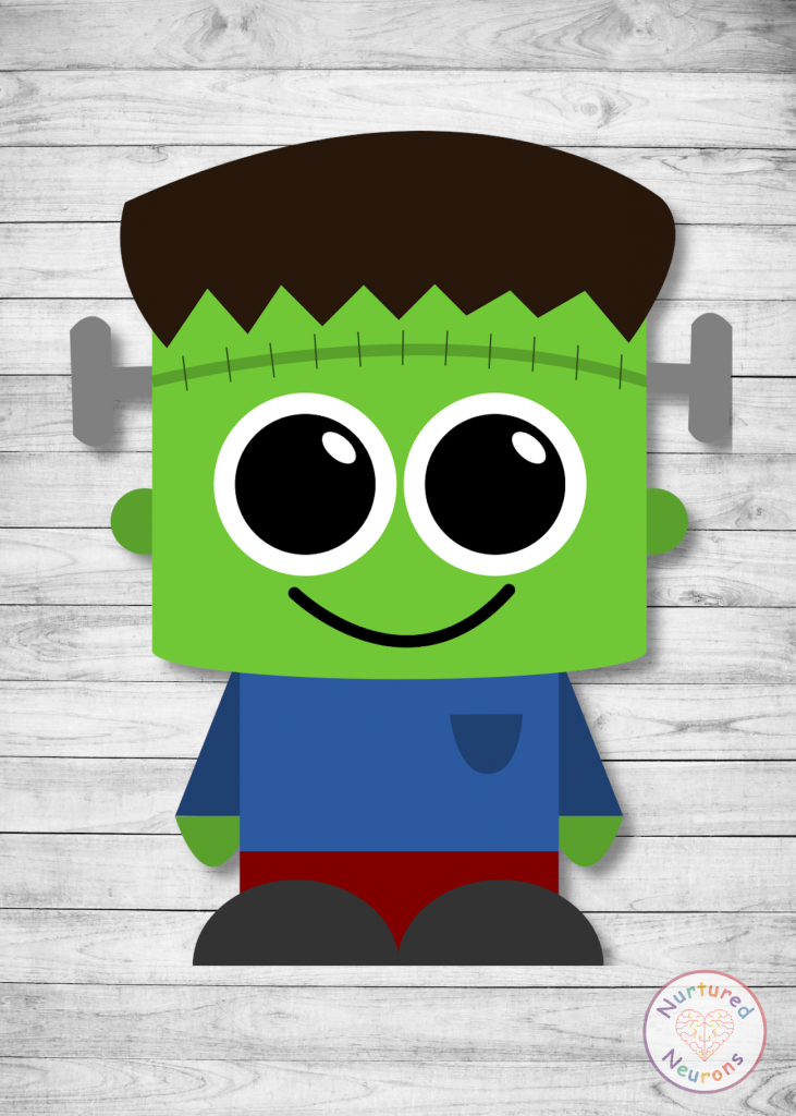 free printable Frankenstein CRAFT for preschoolers and toddlers