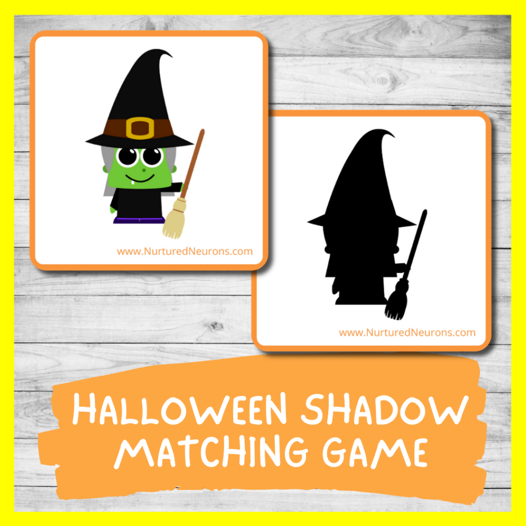 Halloween SHADOW MATCHING GAME FOR TODDLERS AND PRESCHOOL (FREE PRINTABLE)