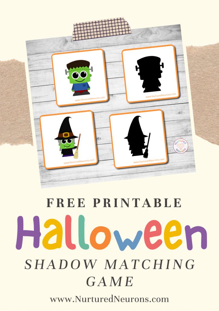 Halloween Matching Game free preschool printable