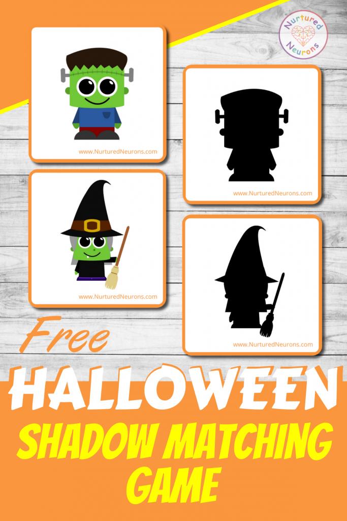 preschool Halloween matching game (free printable)