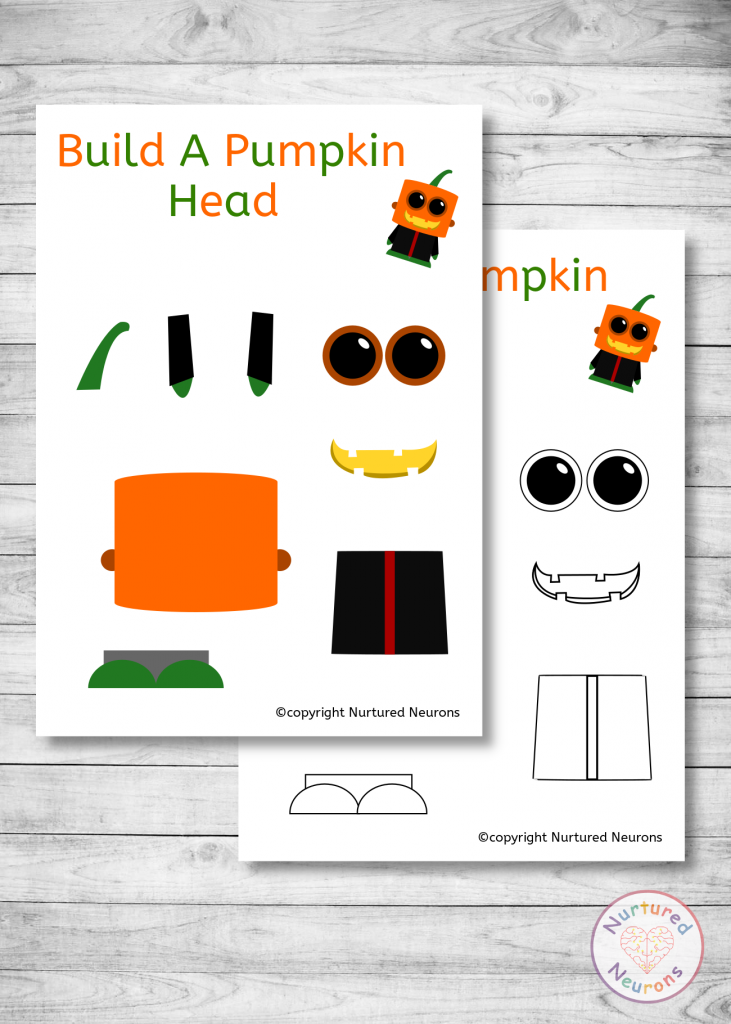Build a Pumpkin Head Sheets
